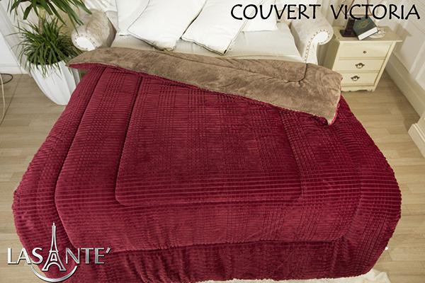 Victoria Rouge foncéest devenu un produit de couverture à succès pour l'hiver à partir de 2015. Les couvertures molletonnées sont peu coûteuses sur le marché, mais pour Lasante